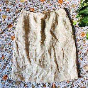 Harvé Benard • Linen Midi Skirt